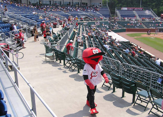 Looie, the Lookouts mascot - BellSouth Park