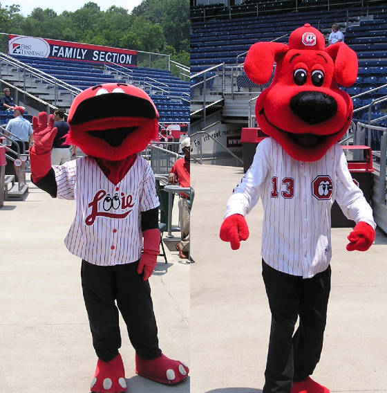 The Lookouts Mascots