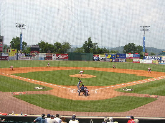 A view from behind Home Plate - Chattanooga